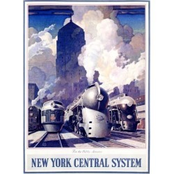 Giclee Print: New York, Central Railroad by Leslie Ragan: 24x18in