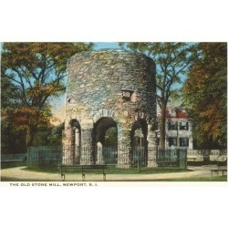 Art Print: Ancient Viking Tower, Newport, Rhode Island: 24x18in