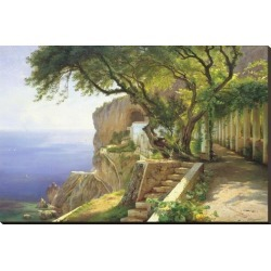 Stretched Canvas Print: Pergola in Amalfi by Carl Frederic Aagaard: 32x48in found on Bargain Bro India from Art.com for $135.00