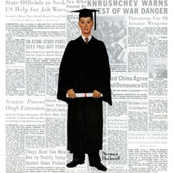 """Giclee Print: """"Graduate"""", June 6,1959 Art Print by Norman Rockwell by Norman Rockwell: 16x16in"""