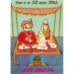 Premium Giclee Print: There is an AIR about INDIA - Indian Maharaja - Air India by Pacifica Island Art: 24x18in