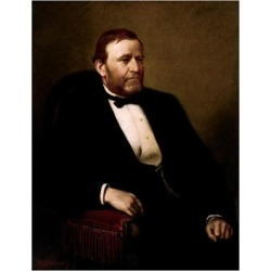 Art Print: Vintage American History Painting of President Ulysses S. Grant: 24x18in found on Bargain Bro India from Art.com for $20.00