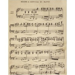 Giclee Print: Sheet Music of Cavalleria Rusticana: 24x18in