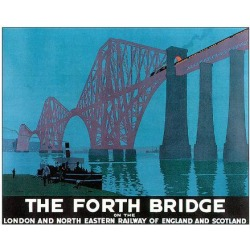 Art Print: The Forth Bridge: 24x32in found on Bargain Bro India from Art.com for $37.00