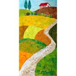 Art Print: Tuscan Triptych C: 24x18in found on Bargain Bro from Art.com for USD $22.80