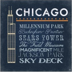 Art Print: Chicago - Sears Tower by Aubree Perrenoud: 16x16in