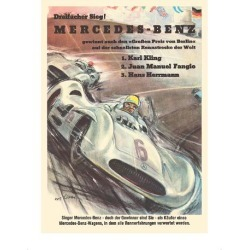 Premium Giclee Print: Mercedes Benz - Grand Prix of Berlin - Formula One Racing by Hans Liska: 16x12in found on Bargain Bro Philippines from Art.com for $30.00