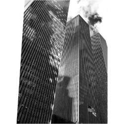 Photographic Print: Symetric Perspective Skyscraper in Manhattan, NYC, White Frame, Full Size Photography by Philippe Hugonnard: 24x18in