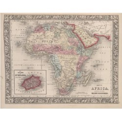 Giclee Print: Vintage Map of Africa with the Island of St. Helena inset from Mitchell's new general atlas, 1863 by American School: 24x18in