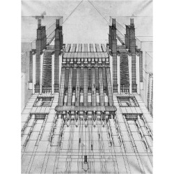 Giclee Print: New City, Design of Airplane and Train Station, 1913 by Antonio Sant'Elia: 24x18in