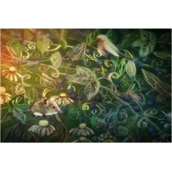 Premium Giclee Print: Within the Hedge by Claire Westwood: 9x12in