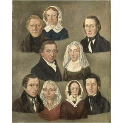 Art Print: Portrait of the Artists Parents by Kornelis Douwes Teenstra: 24x18in