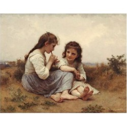 Art Print: Childhood Idyll by William Adolphe Bouguereau: 13x19in found on Bargain Bro India from Art.com for $20.00