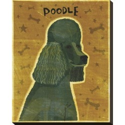 Stretched Canvas Print: Poodle (black) by John Golden: 20x16in found on Bargain Bro from Art.com for USD $72.20