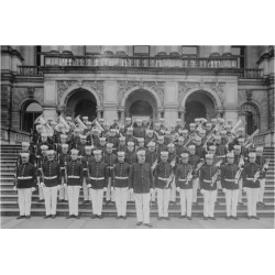 Art Print: Marine Corps Band on Front of Steps to the Executive Office Building: 24x18in