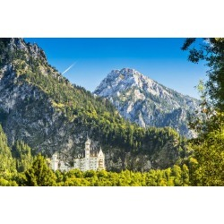Photographic Print: Neuschwanstein Castle in the Bavarian Alps of Germany. by SeanPavonePhoto: 24x16in