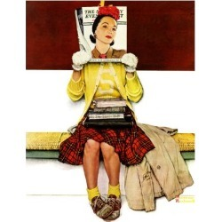 """Giclee Print: """"Cover Girl"""", March 1,1941 Art Print by Norman Rockwell by Norman Rockwell: 16x12in"""