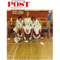 Giclee Print: Cheerleading Art Print by Norman Rockwell by Norman Rockwell: 24x18in