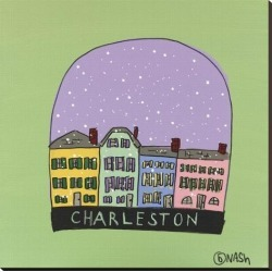 Stretched Canvas Print: Charleston Snow Globe by Brian Nash: 36x36in found on Bargain Bro India from Art.com for $104.00
