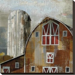 Stretched Canvas Print: Long Barn - Silo by Mark Chandon: 16x16in found on Bargain Bro India from Art.com for $98.00