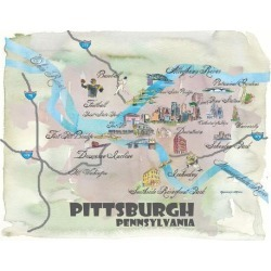 Giclee Print: Pittsburgh Pennsylvania by Markus Bleichner: 18x24in