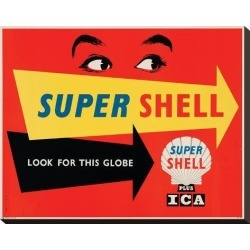 Stretched Canvas Print: Super Shell Plus Ica: 18x22in found on Bargain Bro India from Art.com for $125.00