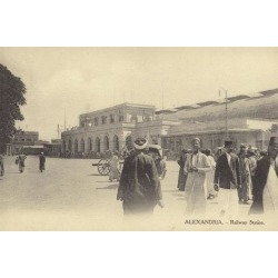 Photographic Print: Railway Station, Alexandria, Egypt: 24x16in