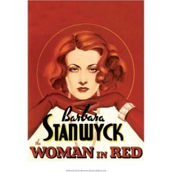 Art Print: Vintage Movie Poster - Woman in Red: 16x12in found on Bargain Bro Philippines from Art.com for $15.00