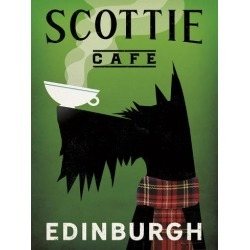 Art Print: Scottie Cafe by Wild Apple Portfolio: 24x18in