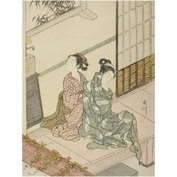 Giclee Print: The Evening Bell of the Clock, from the series Eight Views of the Parlor, c.1766 by Suzuki Harunobu: 24x18in found on Bargain Bro India from Art.com for $25.00