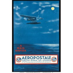Art Print: Europe, Africa, South America, Rio de Janeiro, Brazil - Aeropostale CGA by A.W.D. : 19x13in found on Bargain Bro India from Art.com for $20.00