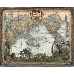 Art Print: World Map by New Day Designs: 22x28in
