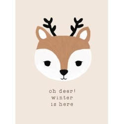 Stretched Canvas Print: Holiday Charm - Oh Deer by Dana Shek: 32x24in found on Bargain Bro India from Art.com for $210.00