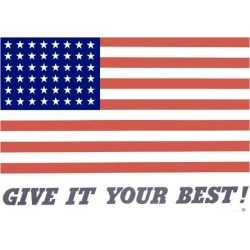 Giclee Print: United States Flag, Give it Your Best! : 32x44in