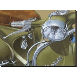Stretched Canvas Print: Close Up Khaki Canvas Art by Miguel Garigliano: 18x24in found on Bargain Bro India from Art.com for $71.00
