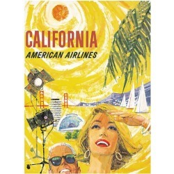 Giclee Print: American Airlines / California by JAMES NEIL BOYLE: 60x44in found on Bargain Bro India from Art.com for $135.00