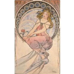 Giclee Print: La Peinture, 1898 by Alphonse Mucha: 24x16in found on Bargain Bro India from Art.com for $30.00