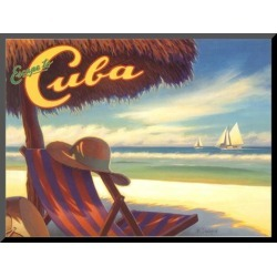 Mounted Print: Escape to Cuba by Kerne Erickson: 9x12in