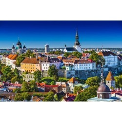 Photographic Print: Skyline of Tallinn, Estonia at the Old City. by SeanPavonePhoto: 24x16in