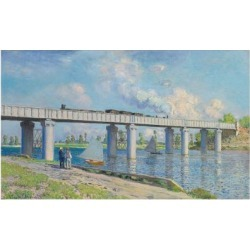 Giclee Print: Railway Bridge at Argenteuil, 1873 by Claude Monet: 24x16in