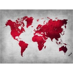 Art Print: World Map Wall Art by NaxArt: 16x12in found on Bargain Bro from Art.com for USD $11.40