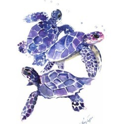 Art Print: Seaturtles by Suren Nersisyan: 24x18in found on Bargain Bro from Art.com for USD $19.00
