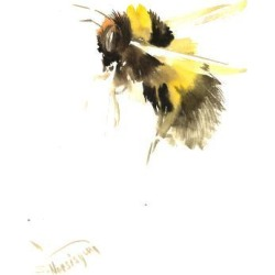 Art Print: Bumble Bee 2 by Suren Nersisyan: 24x18in found on Bargain Bro from Art.com for USD $19.00