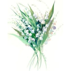 Art Print: Lilies Of The Valley Suren 1 by Suren Nersisyan: 16x12in found on Bargain Bro from Art.com for USD $15.20
