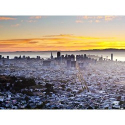 Photographic Print: Above San Francisco Poster by Gavin Hellier: 12x9in found on Bargain Bro Philippines from Art.com for $18.00