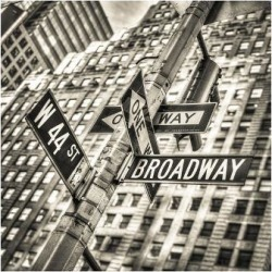 Premium Giclee Print: Street Signs in New York City: 9x12in