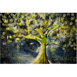 Premium Giclee Print: Stormy Tree by Claire Westwood: 12x16in