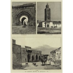 Giclee Print: An Artist's Notes in Morocco, III: 24x18in