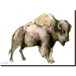Stretched Canvas Print: Bison by Suren Nersisyan: 24x32in found on Bargain Bro India from Art.com for $135.00