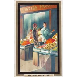 Giclee Print: Buy South African Fruit, from the Series 'Empire Buying Makes Busy Factories', 1930 by Austin Cooper: 18x12in